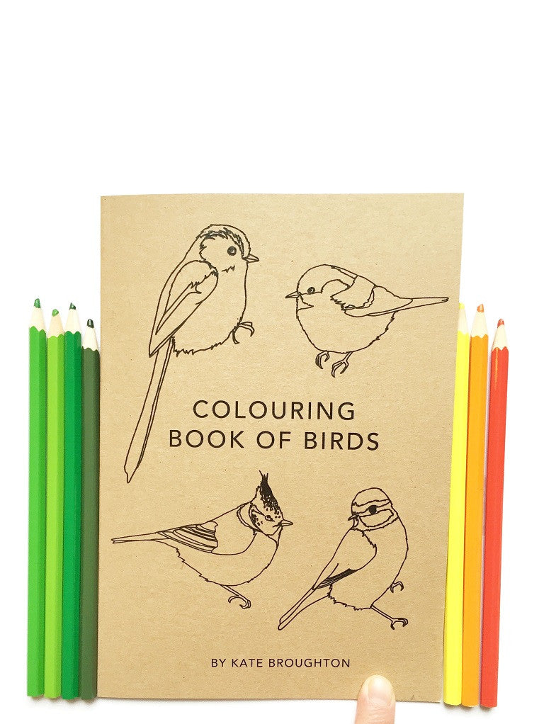 Colouring book of birds by Kate Broughton at What You Sow