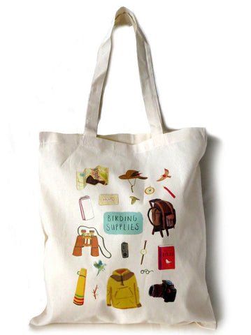 Birding Supplies Tote bag by Sarah Edmonds