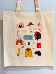Birding Supplies Tote bag by Sarah Edmonds at What You Sow