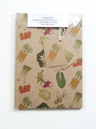 Vegetables wrapping paper
