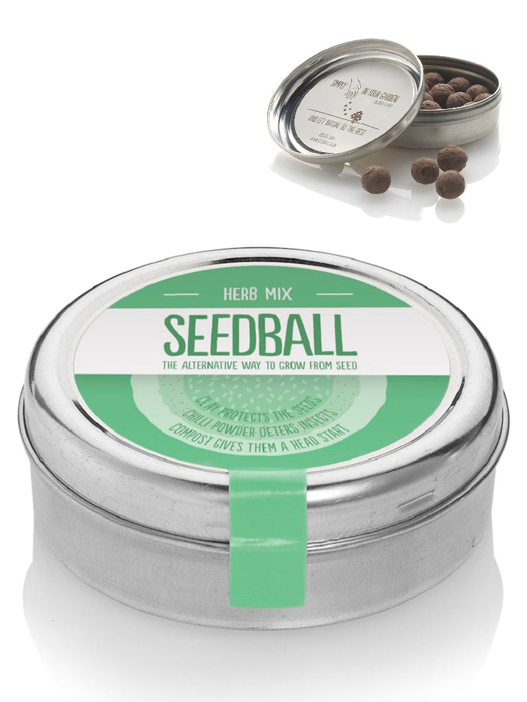 Herb mix Seed ball Tin