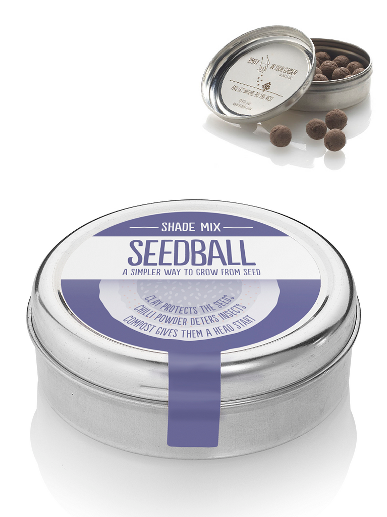 Shade mix Seed ball Wildflower Tin