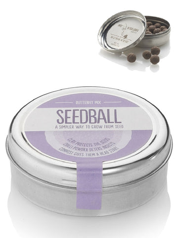Butterfly Mix Seed ball Wildflower Tin