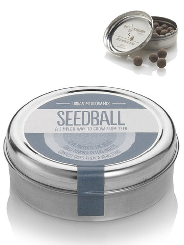 Urban Meadow Mix Seed ball Wildflower Tin