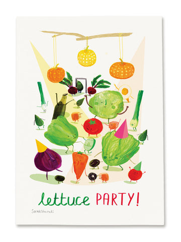Lettuce Party A4 Digital print by Sarah Edmonds