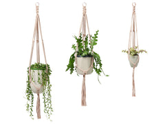 Recycled textile macramé plant hanger with copper trim by Cocoon & me