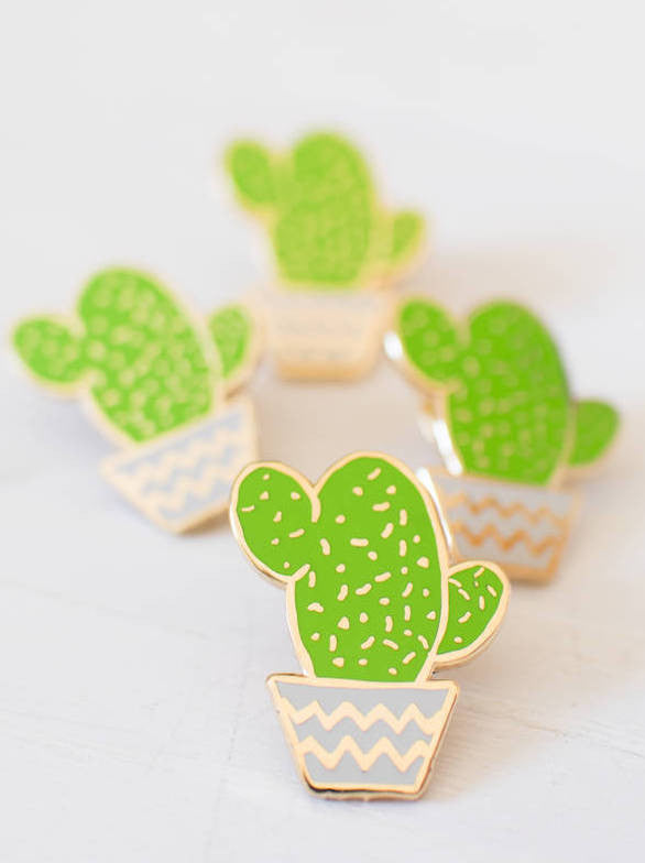 Cactus Pot Enamel Pin by Finest Imaginary at What You Sow