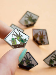 Diamond Terrarium Enamel Pin by Finest Imaginary at What You Sow