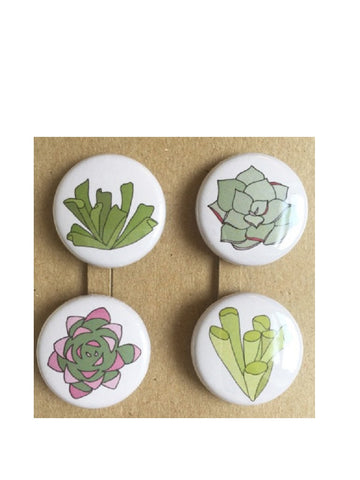 Succulent badges