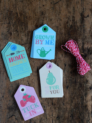 Home grown gift tags and twine