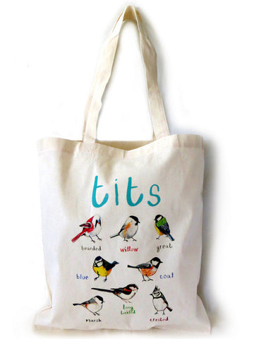 Tits Tote bag by Sarah Edmonds
