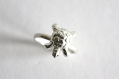 Tortoise Ring Sterling Silver with Black Diamond Eyes. Rock Cakes jewellery at What You Sow.
