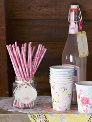 Vintage style paper straws