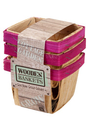 Wooden Punnet set of 3