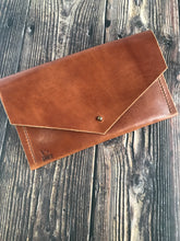 Load image into Gallery viewer, Envelope Clutch - Buck Brown Harness Leather