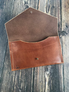 Envelope Clutch - Buck Brown Harness Leather
