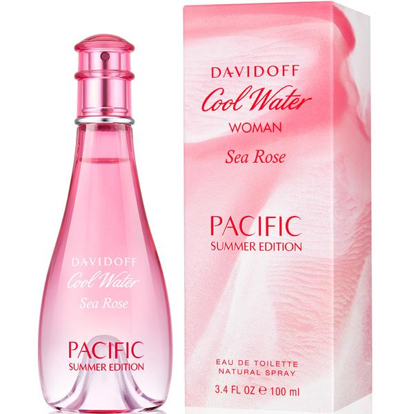 Davidoff Cool Water Sea Rose Pacific Summer Edition For Women Eau De Toilette 100Ml