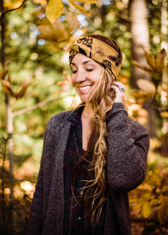 Belka Turban - Organic - Black Metallic Gold