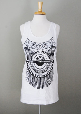 Womens Plus - Impala Tank - Black and White