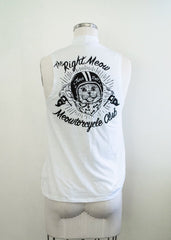Meowtorcycle Club - vintage women's mock neck tank
