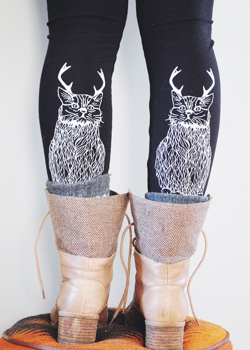 Wild Catalope Leggings -Womens Black High Waist Legging