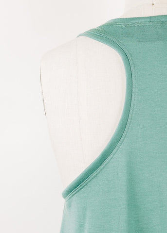 #004 - Organic cropped turtleneck top 3/4 sleeve- Size LARGE