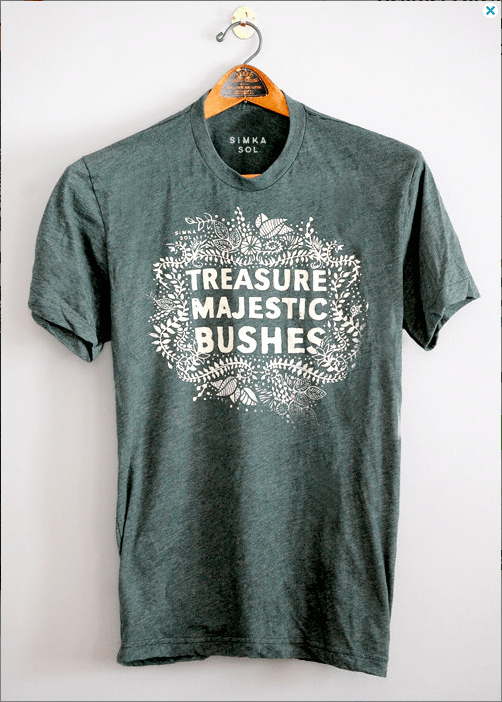 Majestic Bushes - Forrest Green - 5% Donated to Amazon Conservation Association - mens tshirt