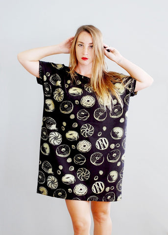 Golden Cactus - Big Tee T-shirt Tunic - American Milled Fabric
