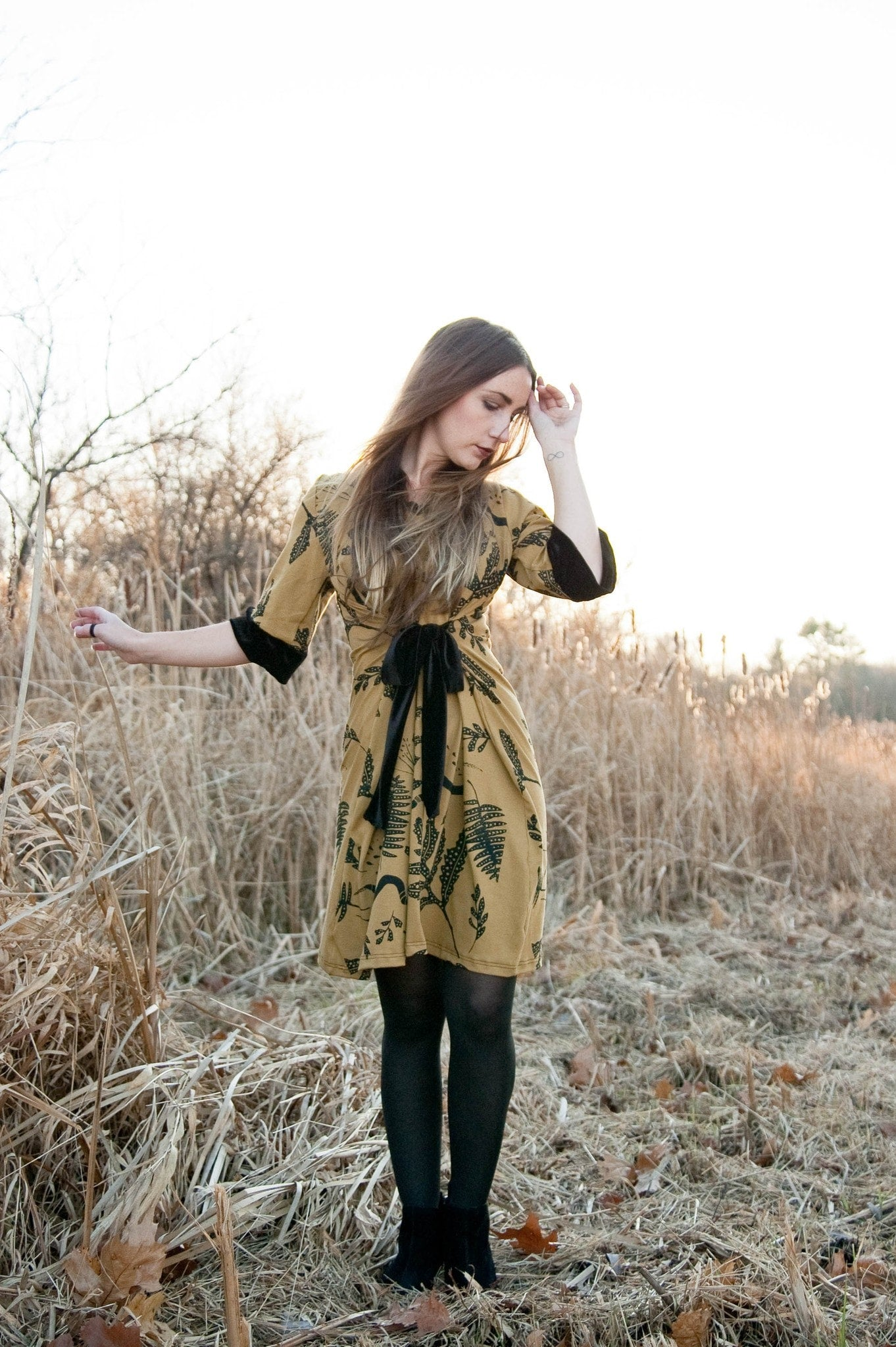 Ephemera Tie Dress - Velvet and Honey