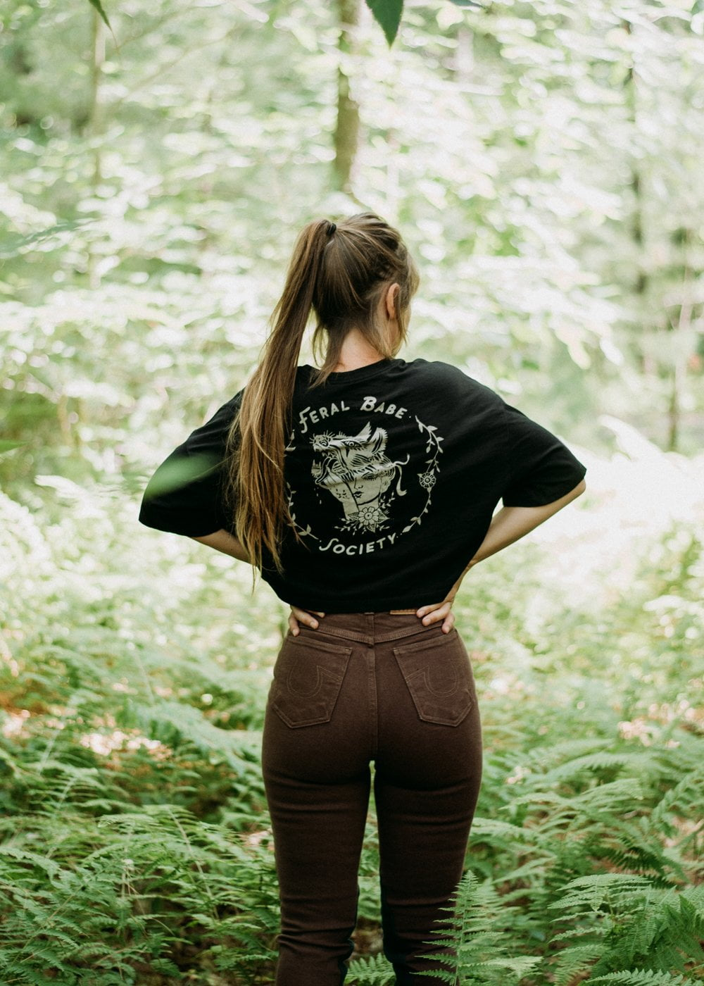 Feral Babe Society - Vintaged Cropped Tee