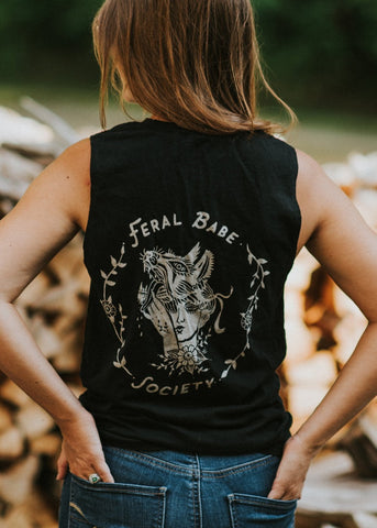 Feral Babe Society - Vintaged Muscle Tank Unisex