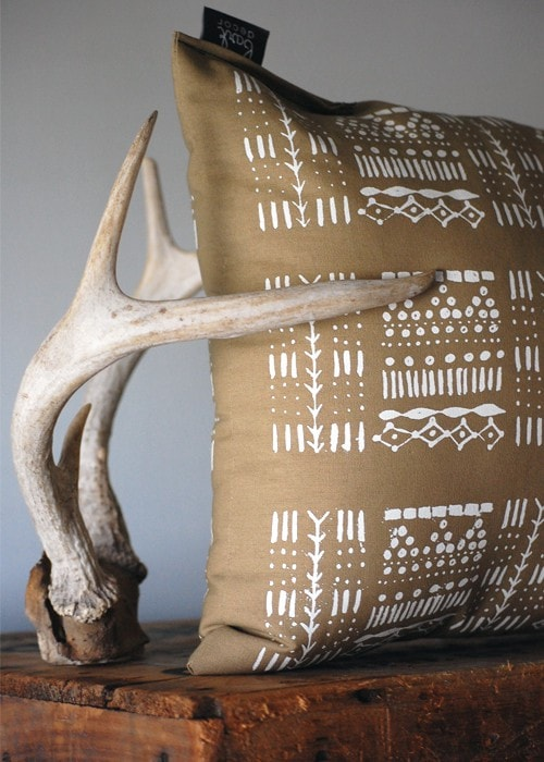 Giza Pillow Cover - White and Cornstalk
