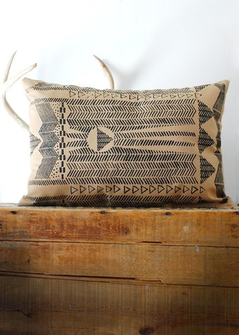As Seen In Magnolia Journal! Going Hunting Pillow Cover- Black and Cornstalk