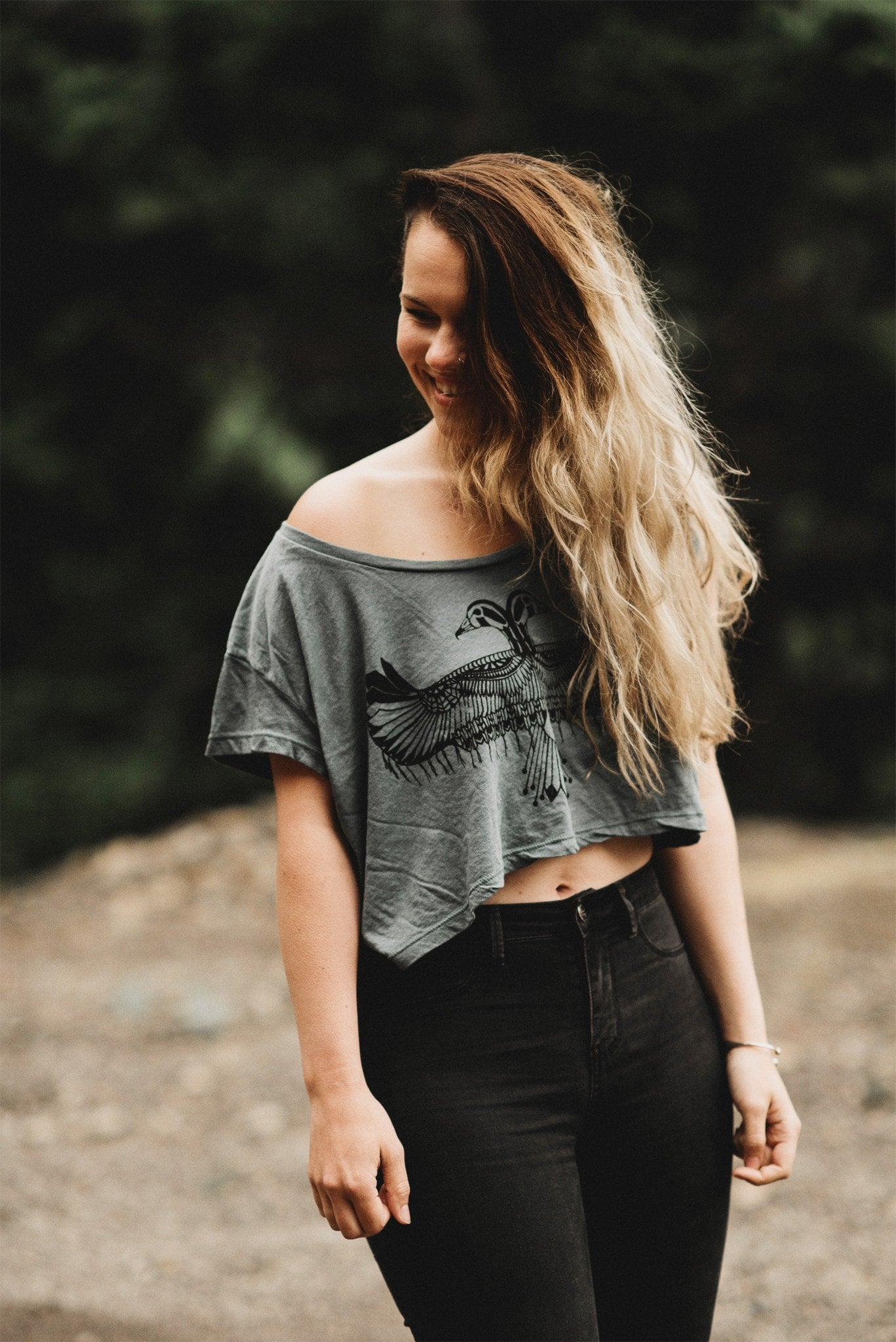 Reverie Crop Top in Moss