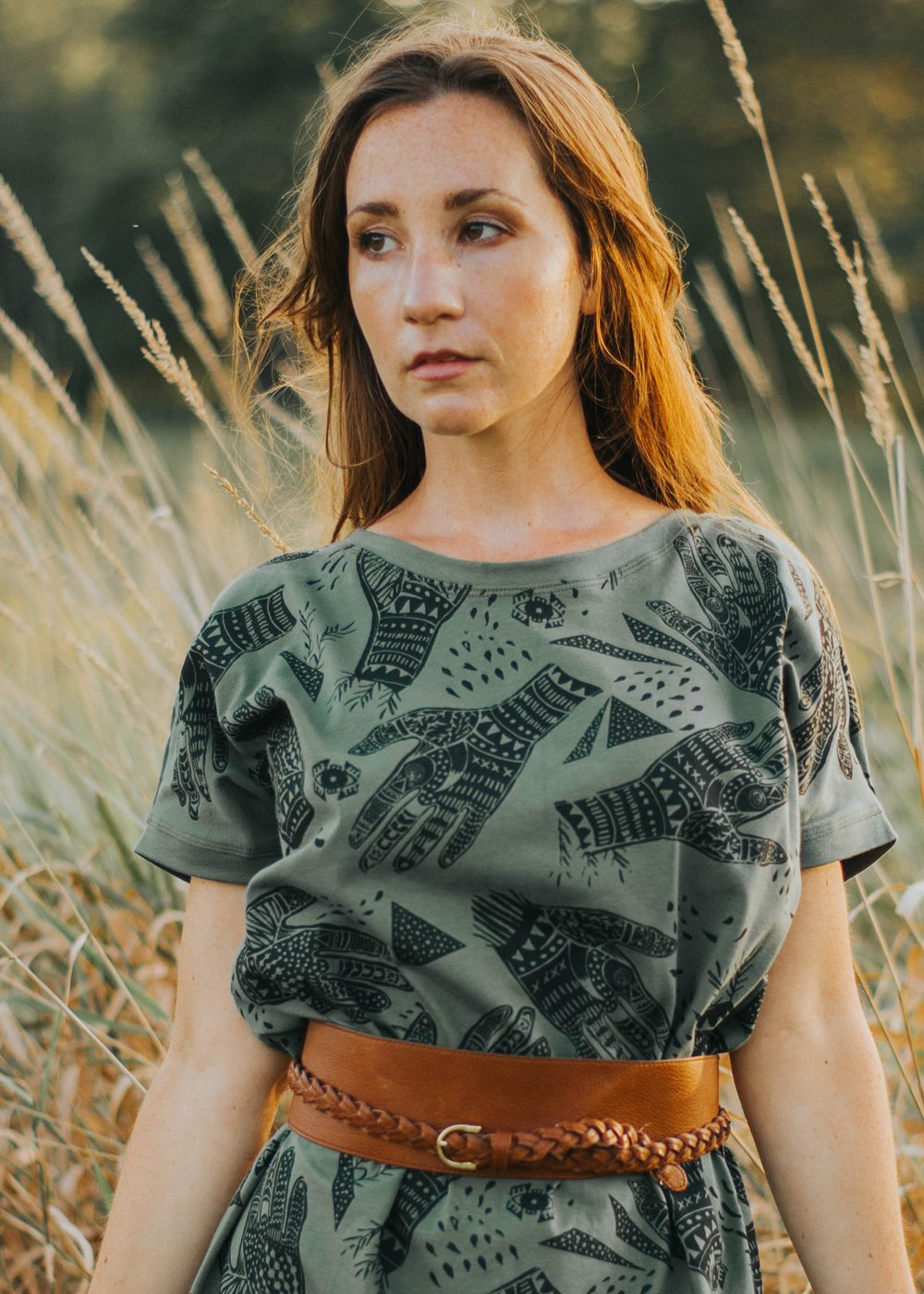 Oracle - Big Tee t-shirt tunic - in Soft Sage