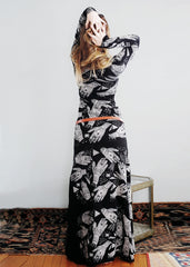 Organic - Palmist Maxi Dress - with Side Leg Slit