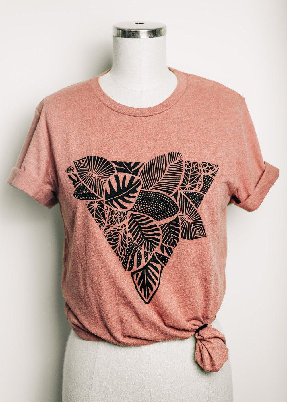 Palm Triangle - rolled sleeve unisex t-shirt
