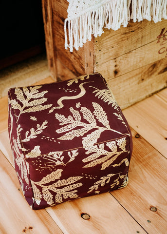 As Seen In Magnolia Journal! Going Hunting Pillow Cover- Red and Cornstalk