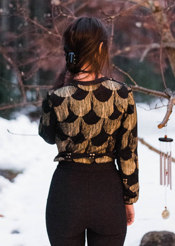 The Tuck-In top - Gold and Black