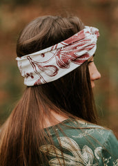 Fall Opulence Turban - Organic Cotton in Birch and Heme