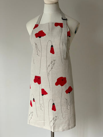 Red Poppy Apron