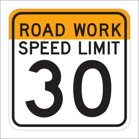 C17 (CA) FRONT ROAD WORK SPEED LIMIT SIGN