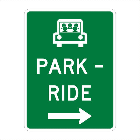 D4-2 PARK AND RIDE SIGN