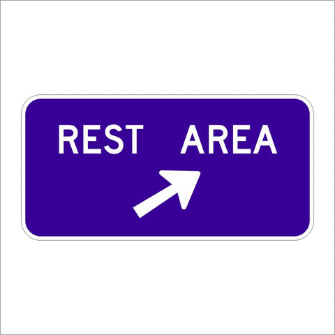D5-2 REST AREA ARROW SIGN