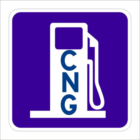 D9-11A COMPRESSED NATURAL GAS (SYMBOL) SIGN