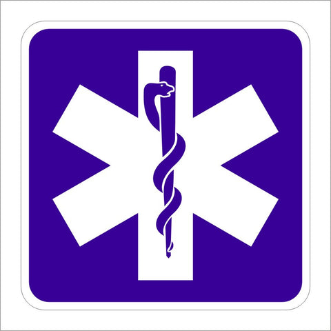 D9-13 EMERGENCY MEDICAL SERVICES (SYMBOL) SIGN