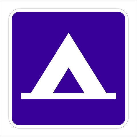 D9 3 Camping Tent Symbol Sign Main Street Signs Athaco Inc