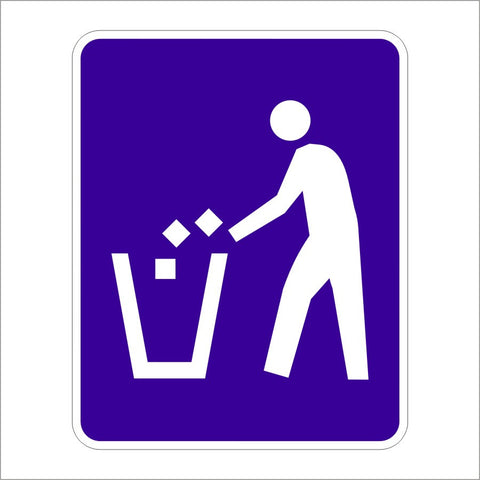 D9-4 LITTER CONTAINER (SYMBOL) SIGN