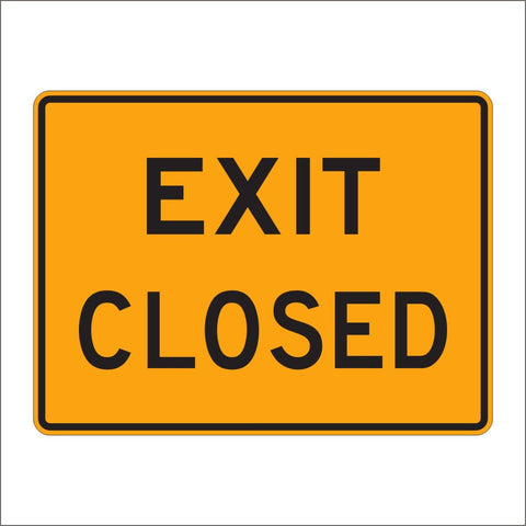 E5-2A EXIT CLOSED SIGN