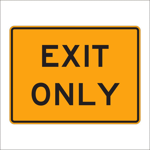 E5-3 EXIT ONLY SIGN